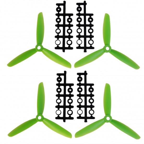 5 x 3 Dreiblatt-Propeller, l. u. r., (4 Stück)