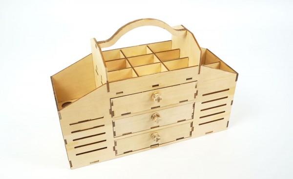 Arkai Werkzeugbox aus Pappelholz (!) zum Zusammenbauen