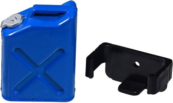 Benzinkanister Blau mit Halterung