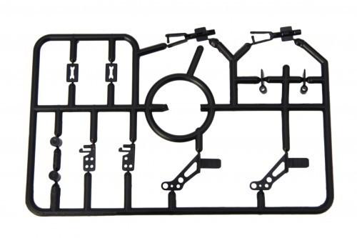 Befestigungsset - 12 Teile schwarz - Ruderhörner & Co für Micromodelle