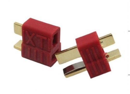 T-Stecker - geriffelte Version 1 Paar (1 w + 1 m)