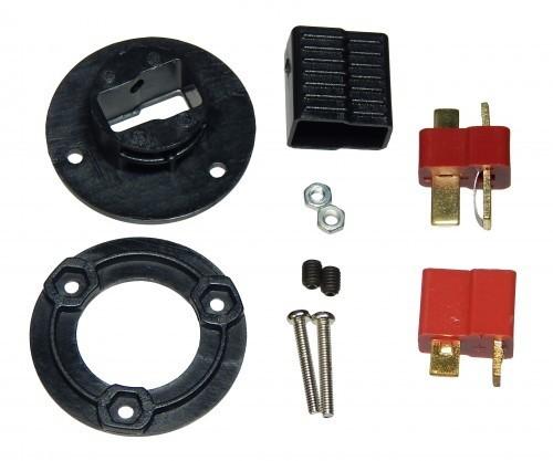T-Steckerverbinder m. Gegenplatte inkl. 1 Paar T-Steckern