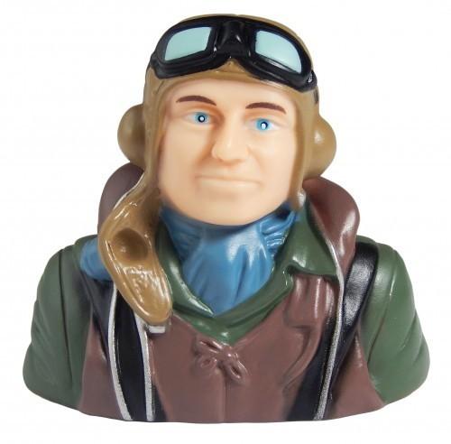 Pilot WWII braun blauer Schal 1:9