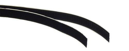 Klettband schwarz B 20 mm L 1000 mm Abschnitt