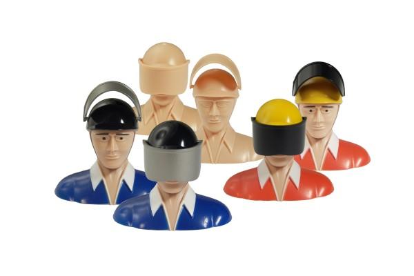 Politenpuppe mit Helm und Visier, div. Farben oder selbst ausmalen! 4,7g