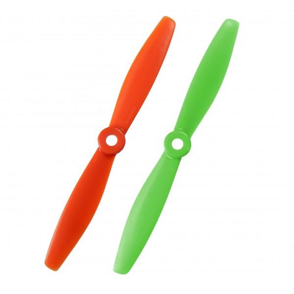 """Propellerblätter 6x4,5"""", Grün oder Orange, 2er Set (CW&CCW/R&L)"""