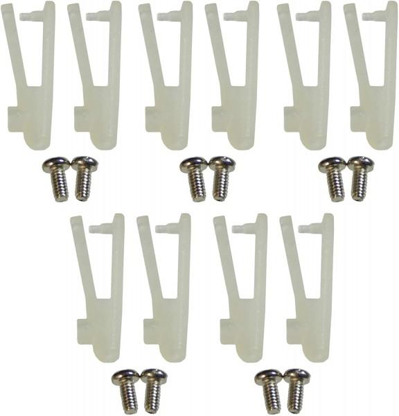 Nylon Gabelkopf 10 Stk. 1*2*20 mm MIT EXTRAschraube