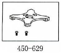 Motorgetriebplatte Geeignet für ALLE 450er wie T-Rex & Co