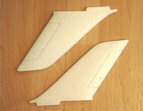 Seitenflossen für JETS & arkai Mega X Fighter