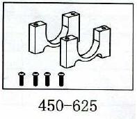 Heckrohraufnahme Geeignet für ALLE 450er wie T-Rex & Co
