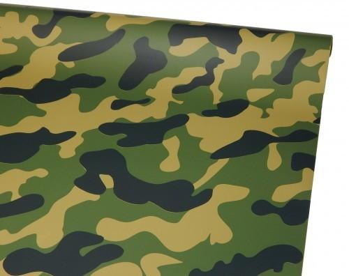 Bügelfolie, deckend, Camouflage Military