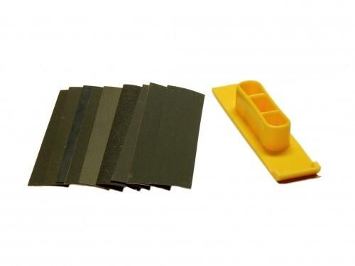 Schleifklotz Mini mit 10 FEINschleifpapieren
