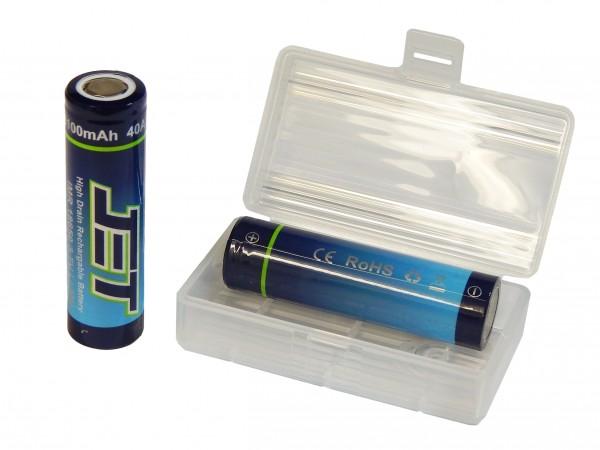 2 Stk. JET 18650 Akku - Batteriebox GRATIS